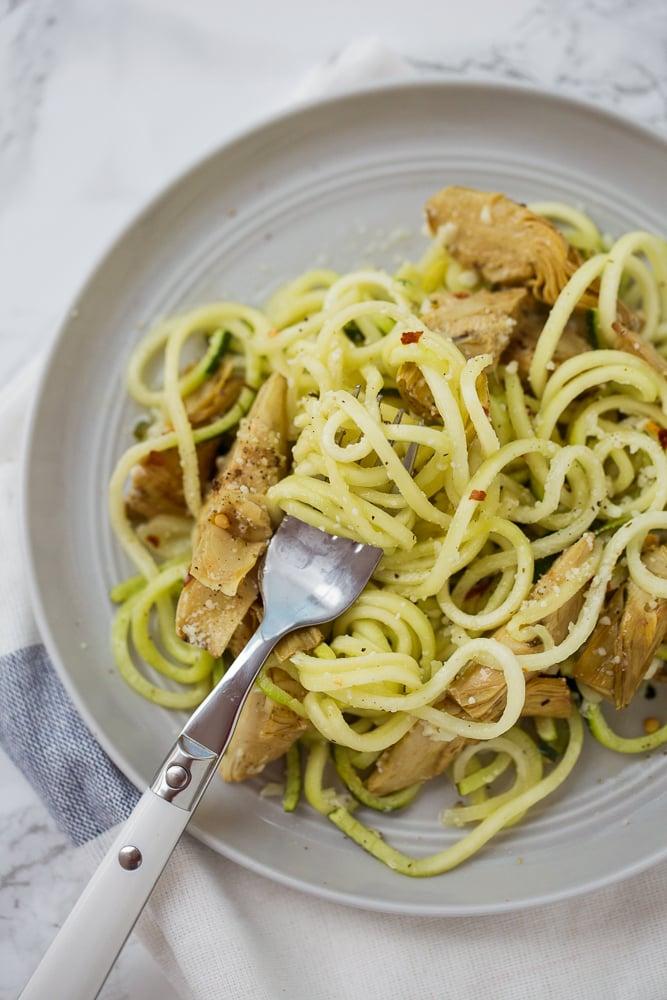 Lemon-Parmesan Zucchini Noodles