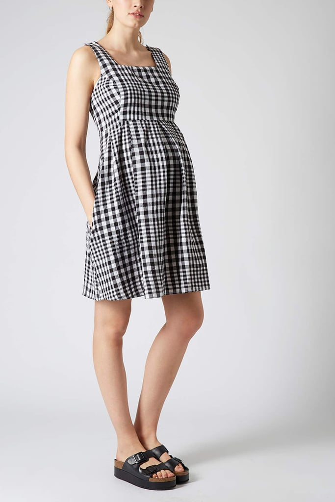 Topshop Maternity Gingham Smock Dress