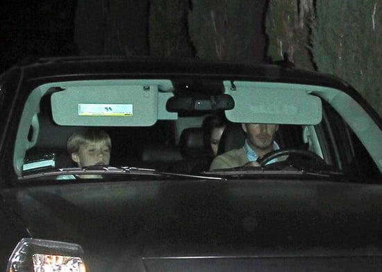 The Beckham family go to Nobu restaurant