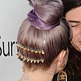 Kelly Osbourne's spiky hair accessories at the amfAR Inspiration Gala added some beautiful bling but with some serious attitude.