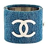 Chanel Denim Cuff Bracelet