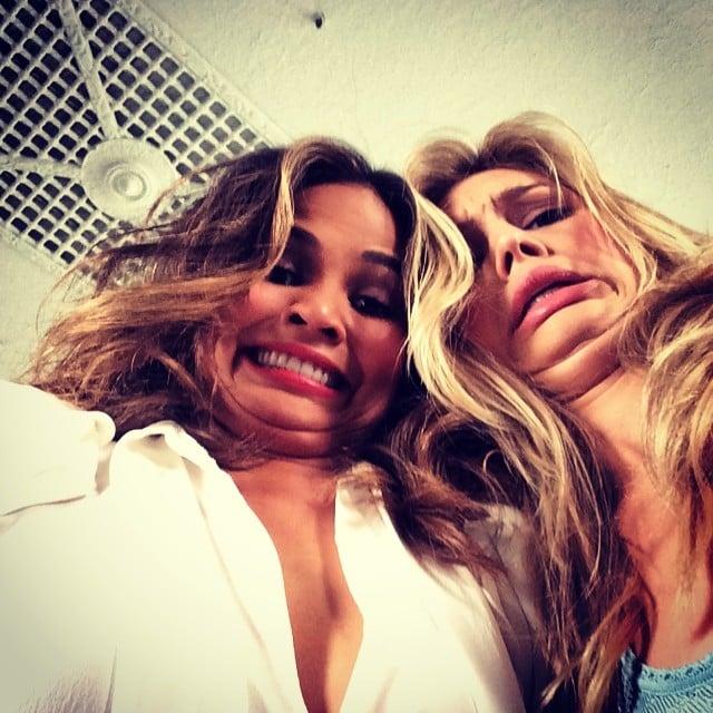 Chrissy Teigen goofed off with model Kelly Rohr. Source: Instagram user chrissyteigen