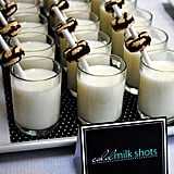 Milk Shots For a Coed Baby Shower