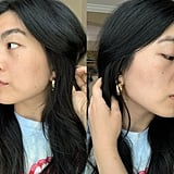 """Skin changes don't happen overnight, and rarely even within a few weeks — especially depending on the severity of your concerns. For the sake of fairness, I decided to test my Curology products for two months, so here's what I'm currently working with. It's worth mentioning that there are a few important variables at play here, including ones that likely had an impact on the state of my skin in its """"before"""" state, too. One, I tested Curology while in lockdown, and two, I've spent the entirety of that time in Florida. This means I've rarely worn makeup (maybe once a week if that) and I'm in a climate that my skin always seems to love (especially compared to New York City). My skin was better and clearer than normal to begin with, and it's virtually blemish-free two months later. Aside from a tiny bit of texture and a hint of redness, it's pretty much thriving."""