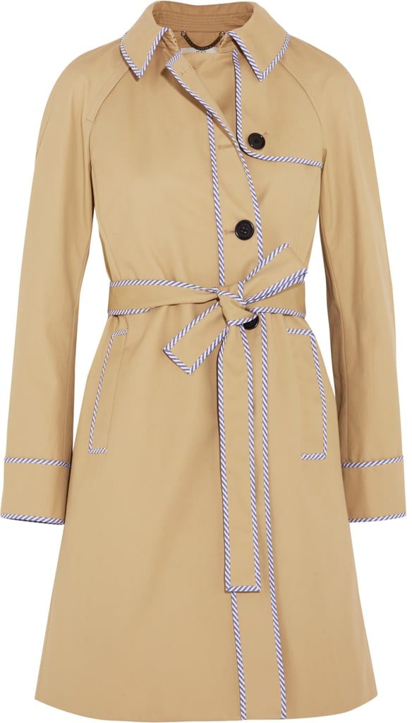 Hawthorne Stripe-Trimmed Cotton-Twill Trench Coat ($350)