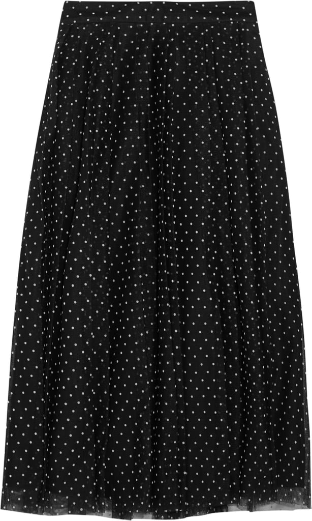 Fia Polka-Dot Flocked Tulle Skirt ($300)