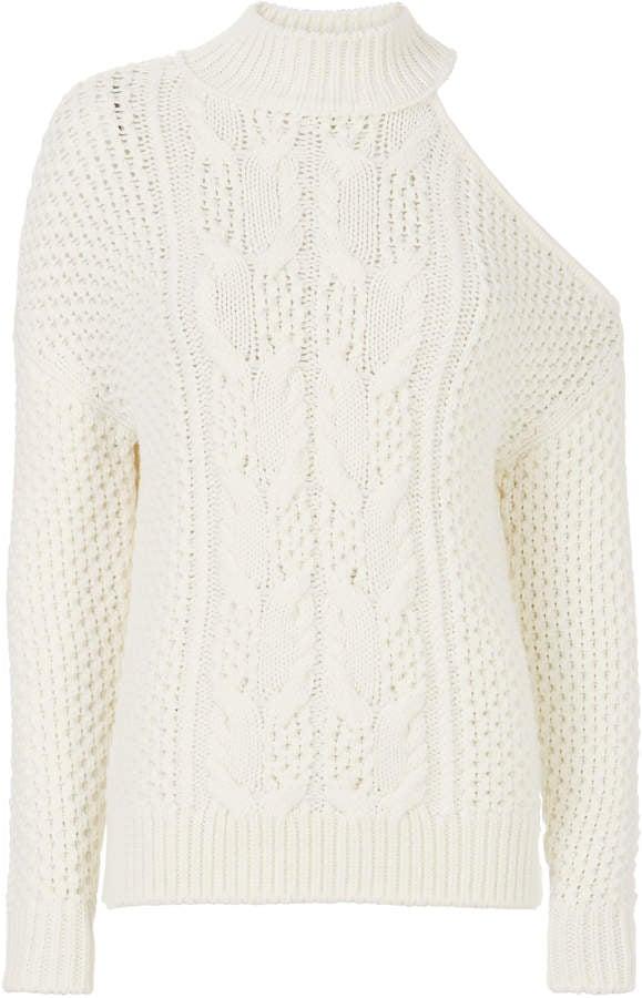 225df5fcc08350 Exclusive For Intermix Britta Cold Shoulder Sweater