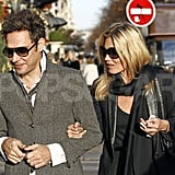 Kate Moss and Jamie Hince went out in blazers.