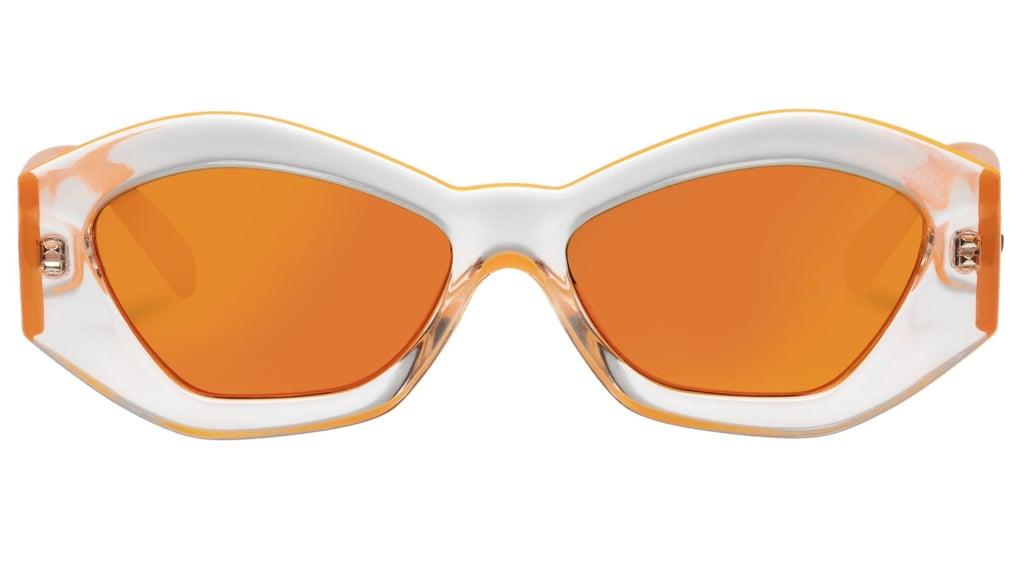 Le Specs The Ginchiest Neon Orange Halo Sunglasses