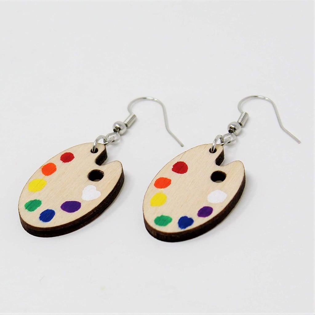 Telestic Design Paint Palette Dangle Earrings