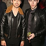 Joe and Nick Jonas let loose at Zegna and GQ's bash in LA on Thursday.