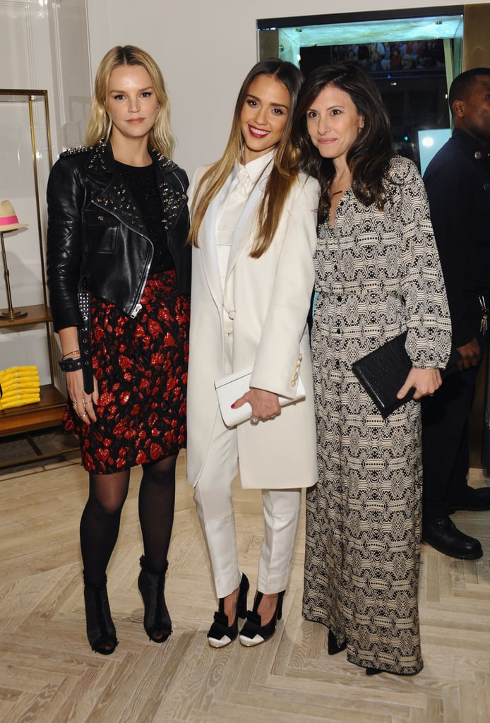 Jessica Alba posed with Kelly Patricof and Norah Weinstein.