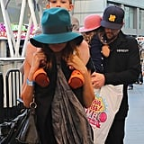 Nicole Richie and Joel Madden accompanied Harlow and Sparrow to the Yo Gabba Gabba show in LA.