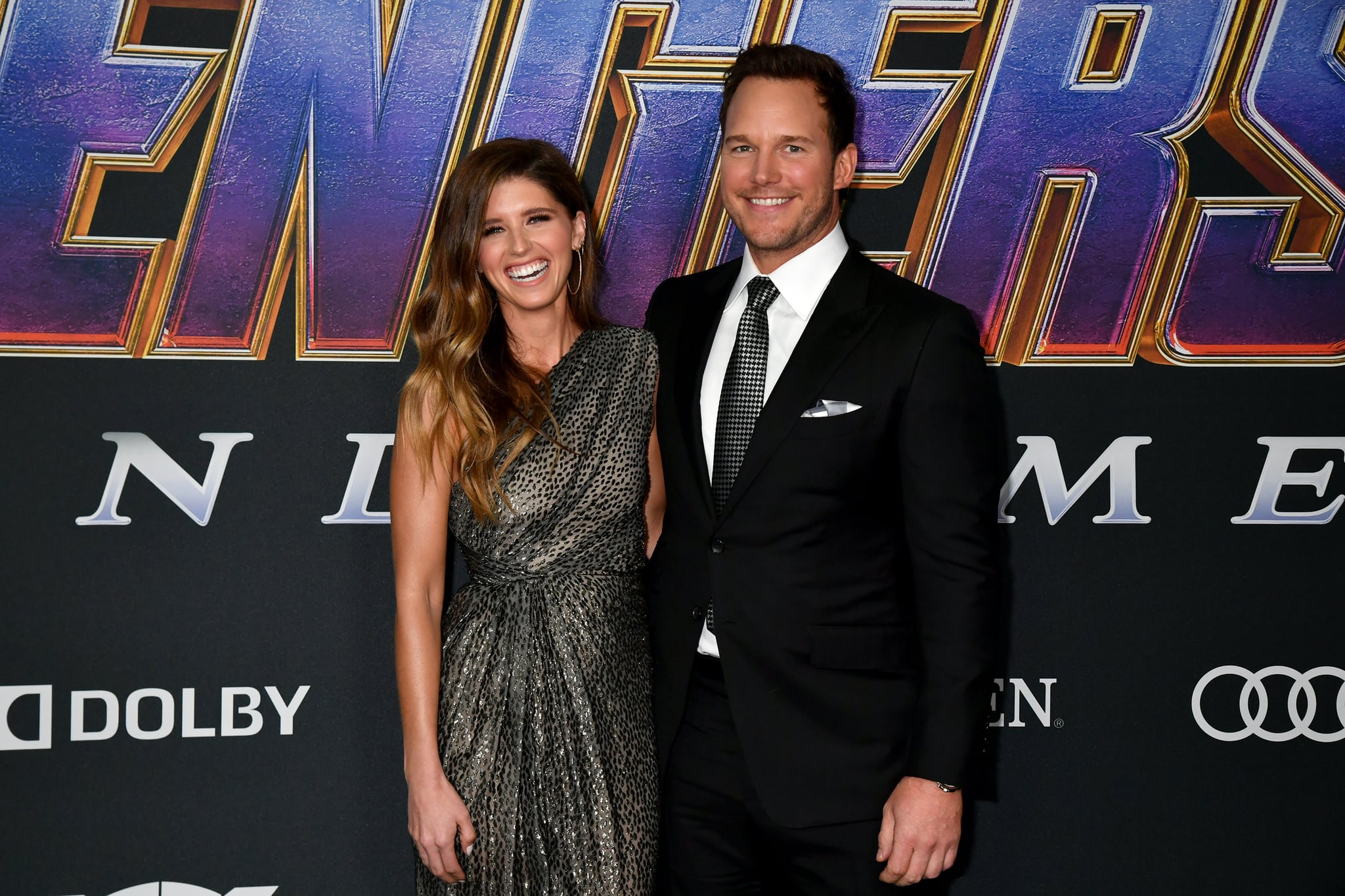 LOS ANGELES, CALIFORNIA - APRIL 22:  Katherine Schwarzenegger and Chris Pratt attends the World Premiere of Walt Disney Studios Motion Pictures