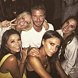 """He got in a Spice Girls sandwich! """"Great to see these shy and retiring ladies,"""" David wrote on Instagram. """"Never a dull moment."""""""