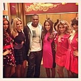 Rapper 50 Cent posed with The Saturdays on the Today show. Source: Instagram user todayshow