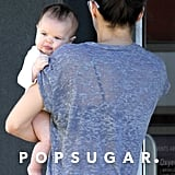 Everly Tatum accompanied her mom to the spa in Vancouver.