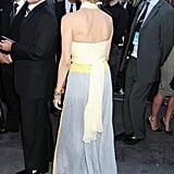 The back of Diane Kruger's Prada dress.
