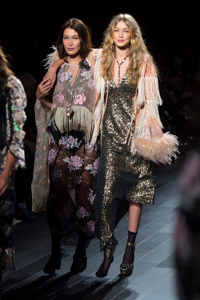 Gigi Hadid Walking With One Heel For Anna Sui in 2017