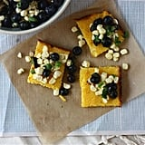 Polenta Squares With Blueberry and Corn Relish