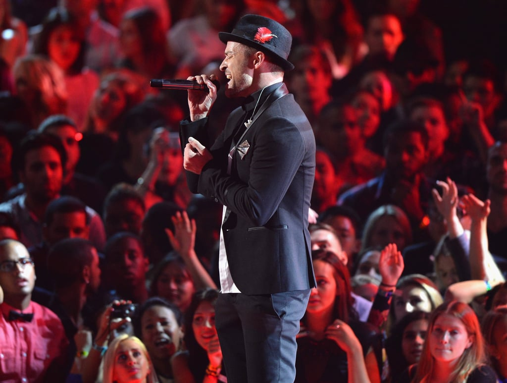 Justin Timberlake performed a medley of his hits.