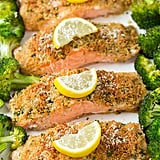 Parmesan Salmon With Broccoli