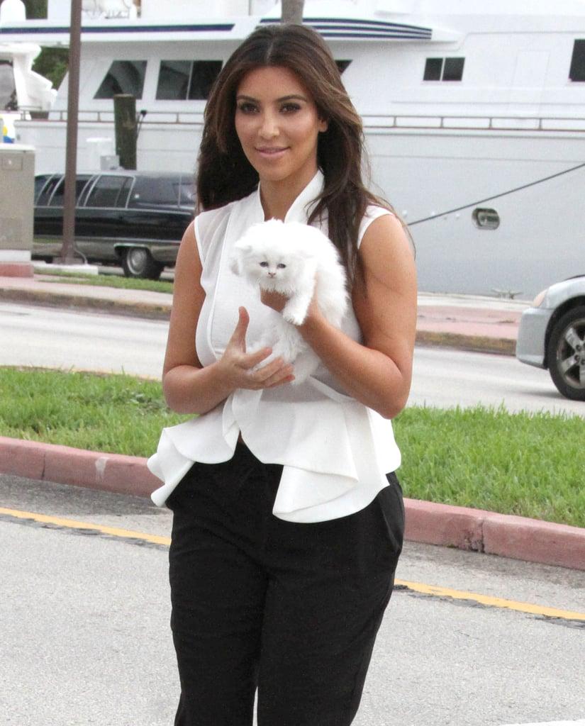 Kim Kardashian held Mercy.