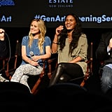 Dax Shepard and Tom Arnold took over the stage while Kristen Bell and Joy Bryant enjoyed their banter.