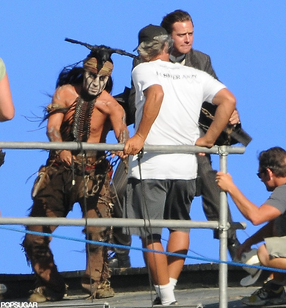 Armie Hammer and Johnny Depp filmed together.