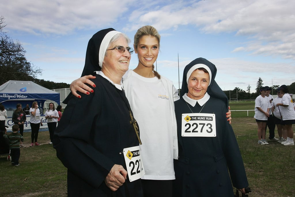Posing with some nuns at the Nuns' Run in June 2009.
