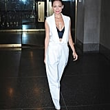 One of Nicole Richie's best to date — the designer and mom looked effortlessly cool in a white vest, trousers, and a black crop top for an appearance on the Today show.