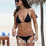 Demi Moore showed off her fit physique while on vacation in Mexico.