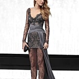 Serena van der Woodsen Wearing a Lacy Sheer Gown