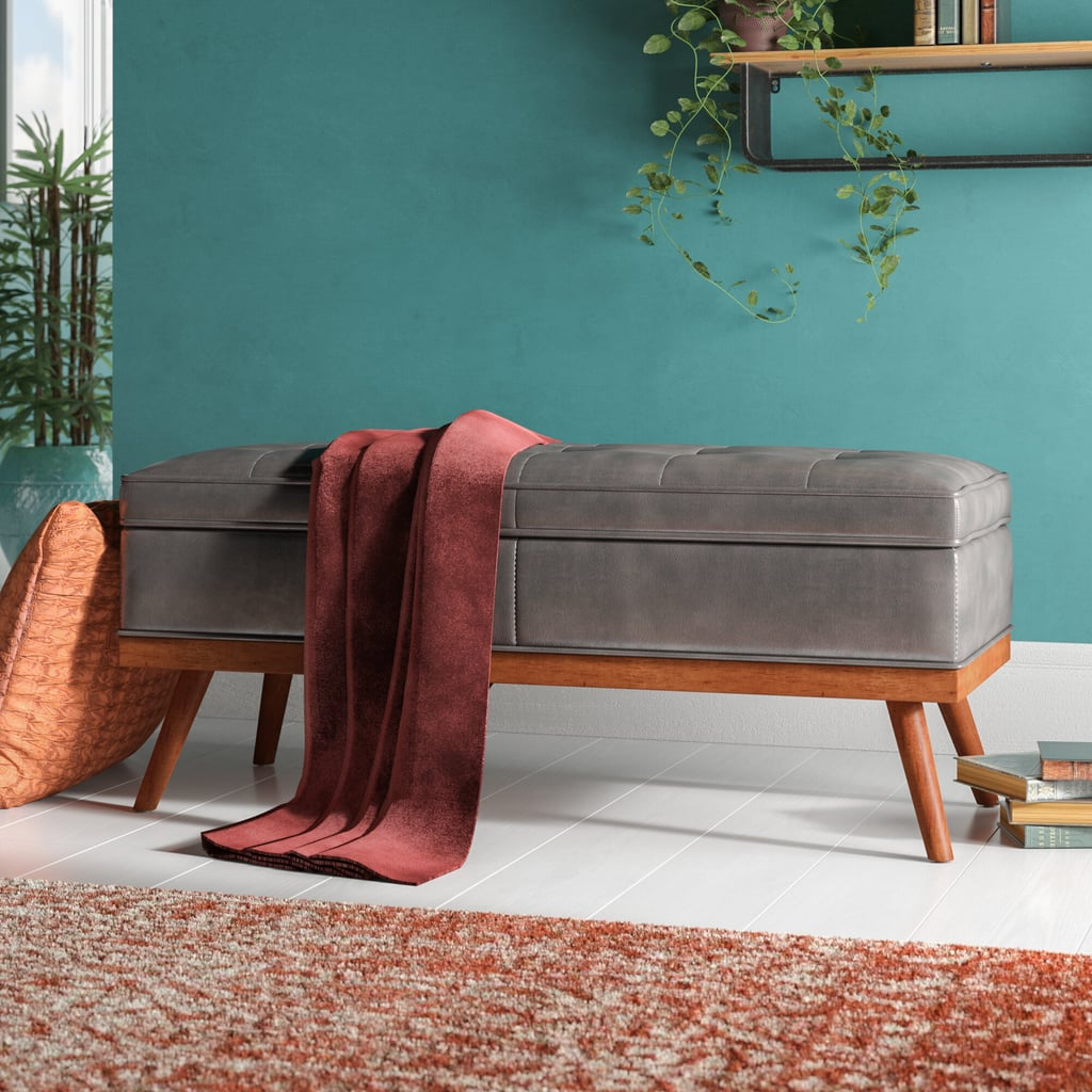 Ronquillo Faux Leather Storage Bench Space Saving Ottomans With Storage From Wayfair Popsugar Home Australia Photo 6