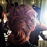 This updo from The Row was full of elegant twists and turns.
