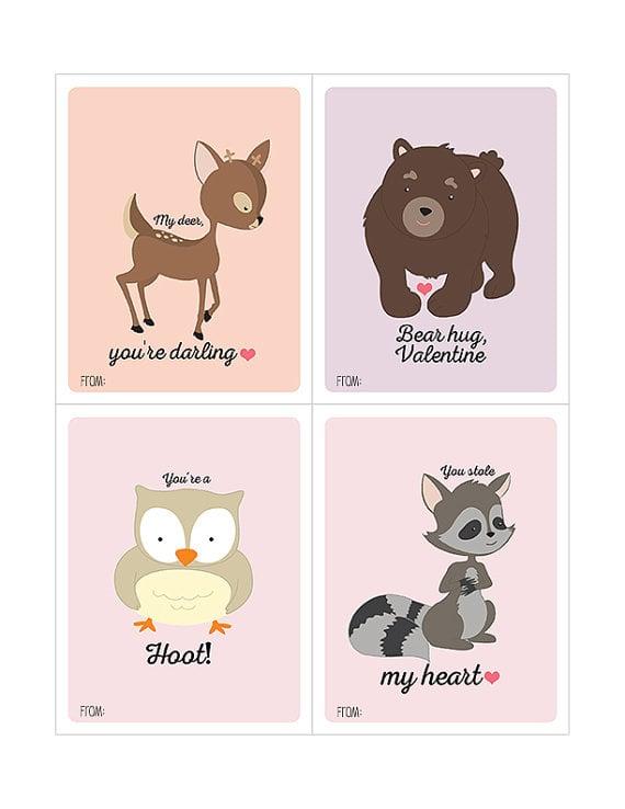 MaddieKatDesign Woodland Animal Valentines