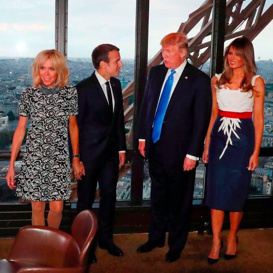 Melania Trump's Herve Pierre Dress in Paris