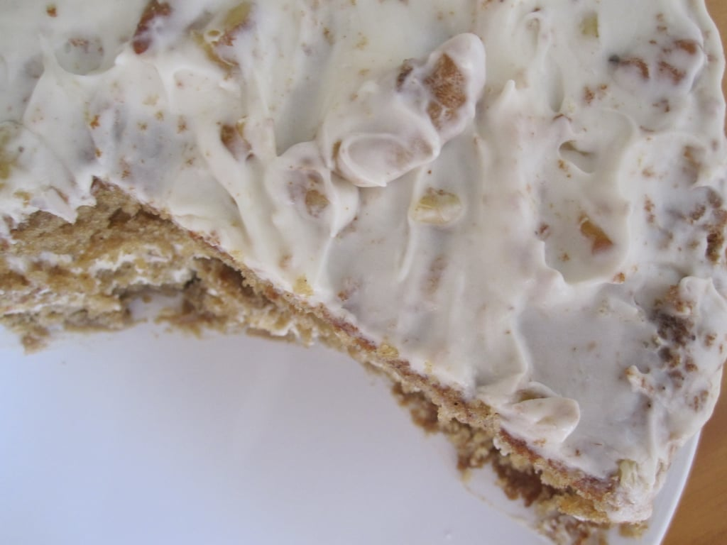 Buttermilk Spice Cake With Roasted Walnut Cream Cheese Frosting