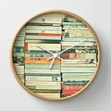 Bookworm Wall Clock ($30)