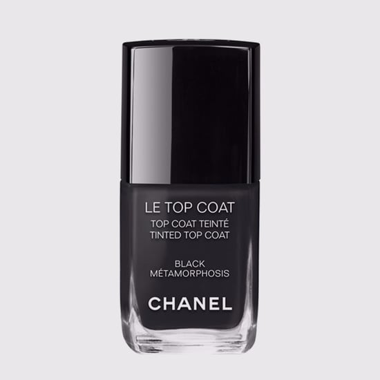 Chanel Black Nail Polish and Lip Gloss Top Coat