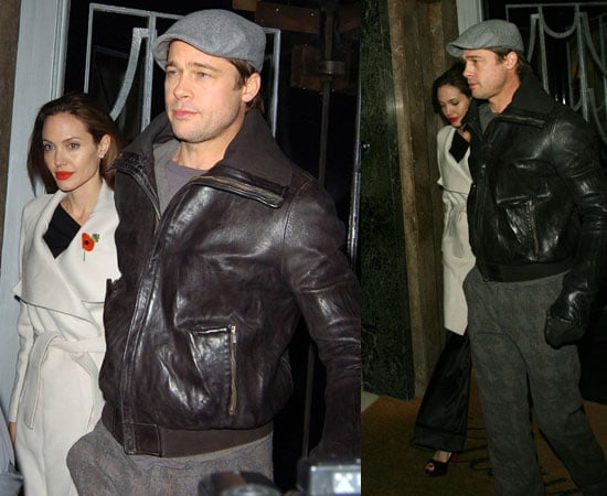Brad Pitt and Angelina Jolie in London