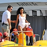 Rihanna Shows Skin on a Parasailing Adventure