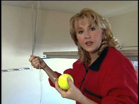 Use the tennis ball trick to avoid banging your car against the garage wall.