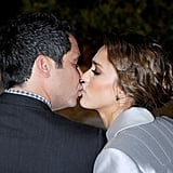 The couple shared a sweet kiss in November 2011 while attending a Swarovski event in LA.