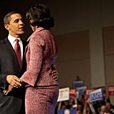 Barack gave Michelle a look of love after winning 2008's South Carolina primary.
