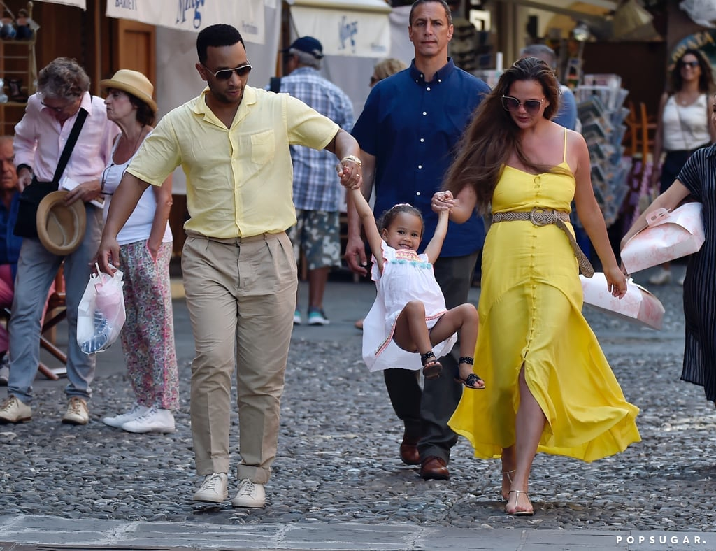 Chrissy Teigen and John Legend Bring the Kids to Portofino, and, Ugh, They're So Freakin' Sweet