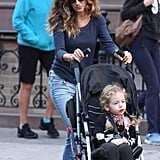 Sarah Jessica Parker went for a stroll with the twins.
