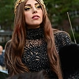 Lady Gaga With Brown Hair