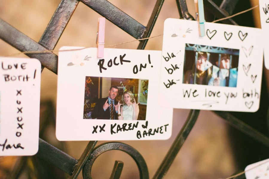 The Polaroids were then strung up. | Polaroid Wedding Ideas ...