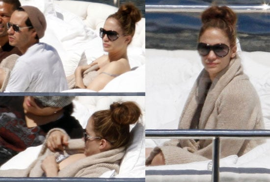 Pictures of Jennifer Lopez and Marc Anthony Relaxing on a Yacht in Monaco